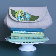 Teal Linen Clutch (ohsewfresh) Tags: blue green modern vintage bag linen lace teal formal felt pearls cotton purse clutch etsy pocket handbag informal heatherbailey ohsewfresh niceyjane