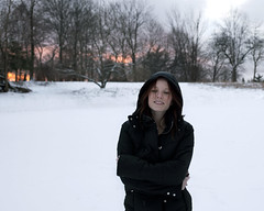 4 (bex finch) Tags: sunset selfportrait snow smile 365 puffer cryingtearsofhair ilooklikethemichelinman