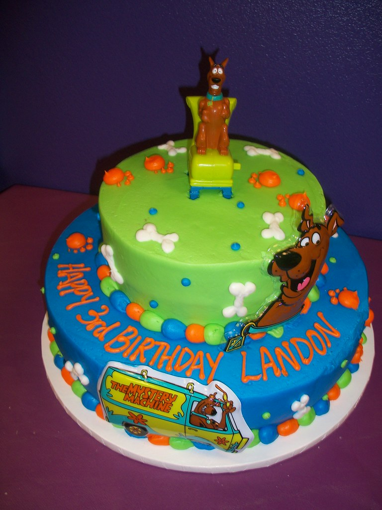 Scooby Doo Layered Round Cake- Find us on Facebook: Sugar Sanctuary
