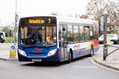 Stagecoach in Peterborough 36044, AE08NVU. (EYBusman) Tags: bus station 200 alexander dennis peterborough dart stagecoach enviro citi viscount queensgate ae08nyu eybusman ae08nvu