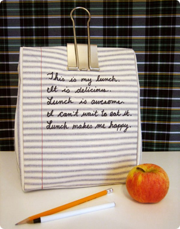 DIY fabric lunch bag 5