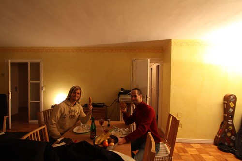 Dinner in Rheims with Antoine (Couchsurfing)...