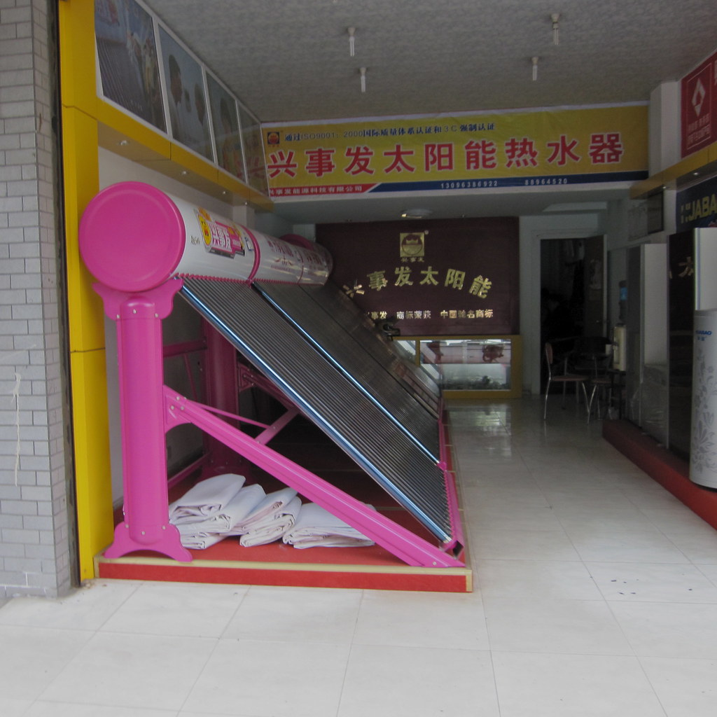 Hot pink rooftop solar water heaters for sale