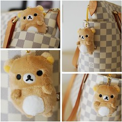 i  tiny kuma (nemuneko.jc) Tags: bear cute relax louis teddy plush purse kawaii handbag vuitton lv louisvuitton rilakkuma sanx relaxuma relakkuma