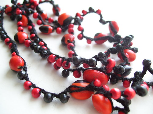 Huayruro seeds necklace