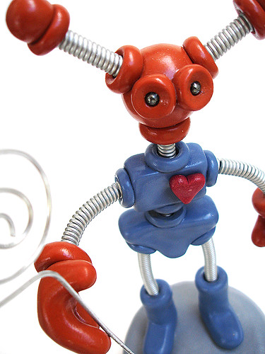 Robot Sculpture - Baxley Brown & Blue - Body