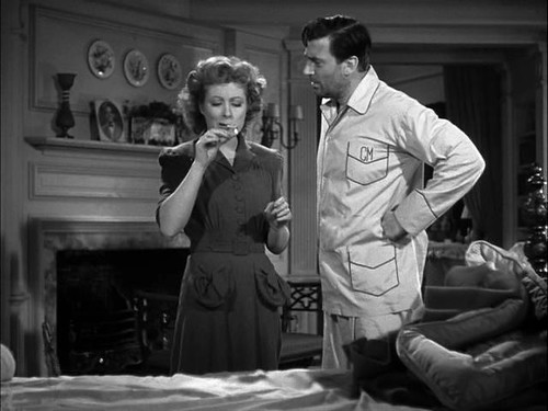Mrs. Miniver, smoking