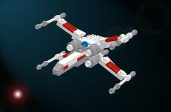 Micro-scale X-Wing Fighter (LDD) (hgaphoto) Tags: starwars lego micro xwing moc ldd microspacetopia