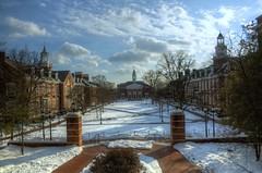 Wayman Quad (sakeeb) Tags: snow clouds cloudy maryland baltimore homewood hdr hopkins jhu johnshopkins johnshopkinsuniversity charlesvillage insidecharmcity