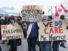 photo taken @ Calgarians Against Proroguing Parliament Rally (Jan 23rd, 2010)