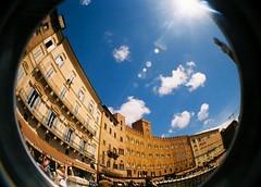 Piazza del Campo, Siena (KatieHarker) Tags: italy square lomo lomography italian fisheye tuscany campo siena piazza