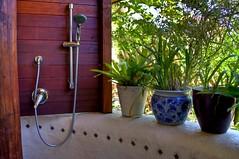 La salle de bain d'extérieur