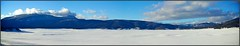 Snowy Caldera (ifringe (david)) Tags: panorama snow mountains newmexico field volcano unitedstates caldera nm jemezmountains vallescaldera nationalpreserve federallands collapsedcrater bacaranch nationallands snowpacl