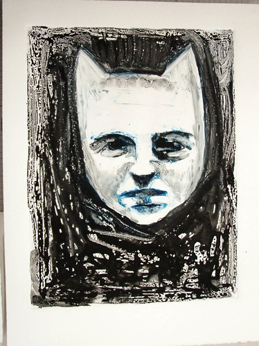 Monotype demo prints from Print Survey Class-waterbased inks, additive to ghost