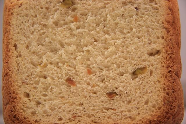 Detalle de la Miga del Pan de Pistachos, Miel y Naranja