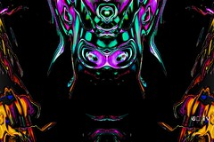 Lord of Flies (eotiv) Tags: pink abstract green art insect fly cg buh ab lord multicolored winged housefly