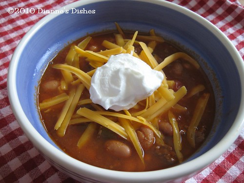 Snowy Day Chili: With Toppings