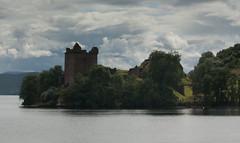 Castle Urquhart (scrumsrus) Tags: cloud mountain storm tree castle water 1 scotland highlands lochness invernessshire caledoniacanal castleurquhart greatglen angleannmòr scrumsrus andystuart