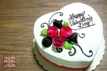 Red Ribbon's Valentine's Day Cake - Roses And Kisses Cake