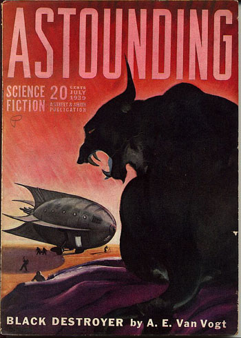 Astounding Science Fiction July 1939 --Black Destroyer