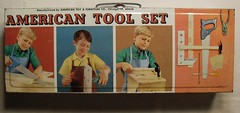 1960s AMERICAN TOOL SET Metal Box Vintage Toy Kids Photo Graphics (Christian Montone) Tags: kids vintage toys 1960s toolkit latch vintagephotos toolset vintagetoys metalbox carryingcase vintagetools vintagebox vintagegraphics
