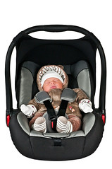 Safety First (Sergiu Bacioiu) Tags: bear blue sleeping baby white flower green beautiful hat car little sweet sleep seat small young safety newborn safe isolated dominic alexandru