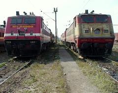 SRC WAP4# 22500 & GZB WAP1# 22071 (arzankotval2002) Tags: trains locomotives indianrailways themachines irfca metallicobjects trainsspotting locomotivesoftheworld