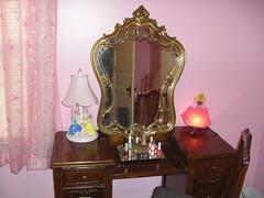 ALMOST KEPT THIS VANITY (Petticoat Brenda) Tags: pink bedroom vanity sissy