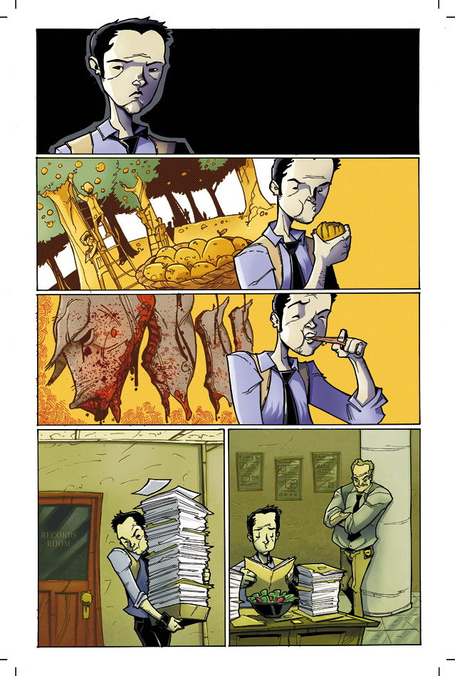 "Page 2 of ""Chew"" issue 2."