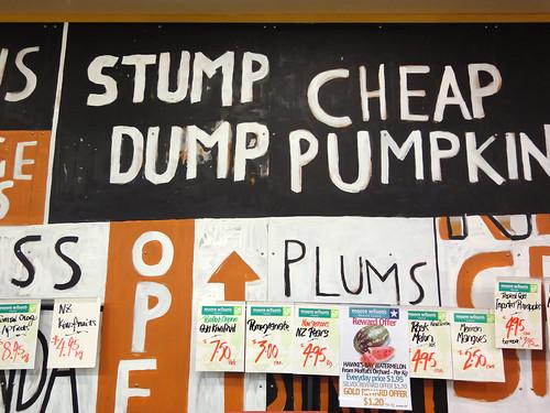 Stump Dump Cheap Pumpkin