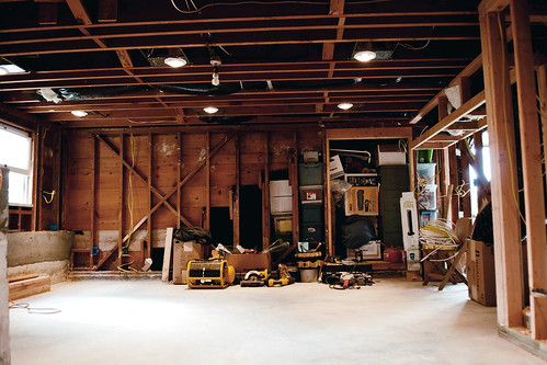 basement renovation: the office