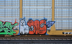 Passing train, Union Pacific, Tucson, Arizona, January 14, 2010 (Ivan S. Abrams) Tags: train graffiti tag trains tagging railroadgraffiti onlythebestare ivansabrams trainplanepro nikond700 ivanabrams abramsandmcdanielinternationallawandeconomicdiplomacy ivansabramsarizonaattorney ivansabramsbauniversityofpittsburghjduniversityofpittsburghllmuniversityofarizonainternationallawyer