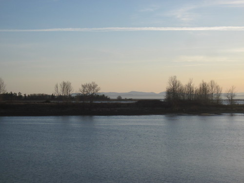 Mighty Fraser and Vancouver Island as Seen From Steveston