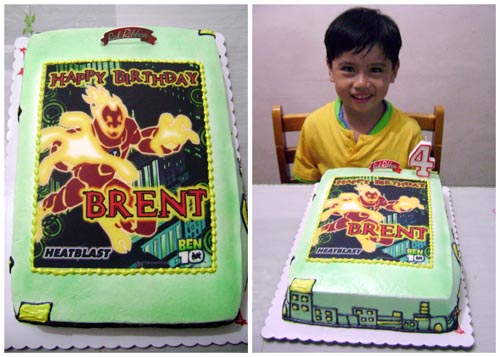 birthday cake Ben10 heatblast