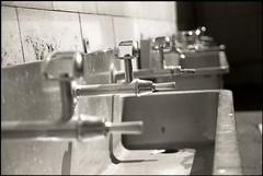 Quench (Adam Dimech) Tags: school blackandwhite bw film college fountain design high education drinking australia melbourne victoria scan highschool sandringham faucet secondary delta100 tap ilford drinkingfountain trough redfilter ltc schoolyard publicschool stateschool governmentschool cementtile secondarycollege lighttimberconstruction sandringhamcollege highetthighschool