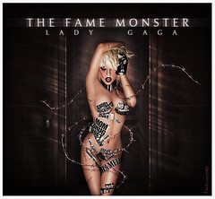 LADY GAGA- MONSTER - blend (balt-arts) Tags: door wallpaper sexy monster lady photoshop paper poster blood hell fame horror terror paparazzi gaga puas