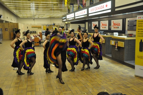 Cancan Dancers at the Whitehorse Airport