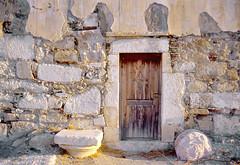 Crete church - detail (h_roach) Tags: church ruins greece crete marble recycle buildingmaterial lentas