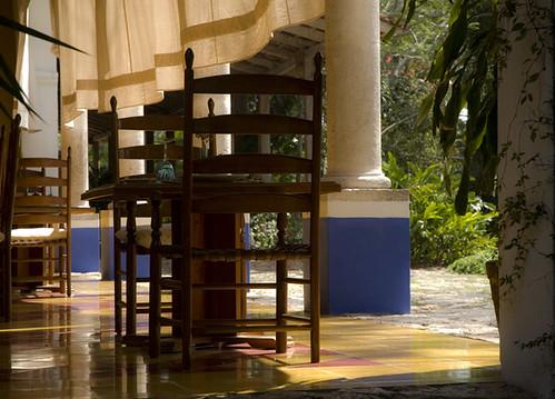 Dining Room at Hacienda San Jose Cholul, Yucatan, Mexico