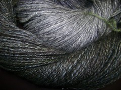 evenstar shawl spinning