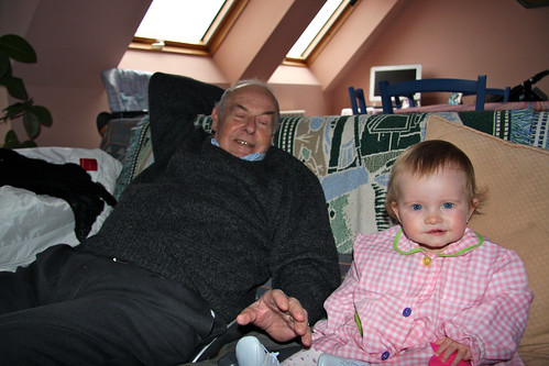 With Great-Grandpa