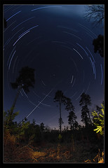 How to photograph a startrail (Johan J.Ingles-Le Nobel) Tags: wood longexposure trees tree pine night airplane landscape oak woods reject startrails startrail Astrometrydotnet:status=failed Astrometrydotnet:id=alpha20100912696171 johanjingleslenobel