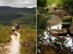 Trekking (flaviochan) Tags: minasgerais rio trekking river cerrado caminhada serradocip fleuve diptico