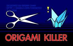 """ORIGAMI KILLER"" (Heavy Rain) (Chosetec) Tags: rain paper funny origami crane scissors parody folded heavy"