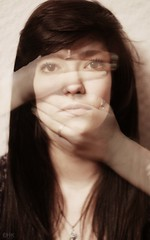 Day 44/365 - Beyond Your Means (emyah) Tags: portrait face self project hands day 365 transparent 44 blehhh