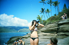 Hawaii  LC-A (Justin Ornellas) Tags: ocean blue justin girls cliff art film beach water analog 35mm vintage hawaii interesting jump lomo lca surf grain dive wave retro explore hawaiian agfa portlock lowfi luckybrand  chinawalls ornellas ornellaswouldgo