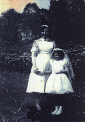 Image titled Rosemary McCarthy (with Ena Higgins), First Communion, Kelvingrove Park, 1955.
