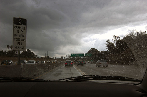 rain, freeway