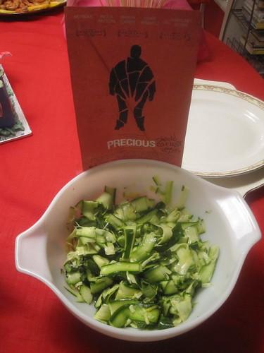 Salade de courge et basilic