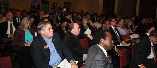 A capacity crowd turns out for a USDA sponsored jobs forum in Alabama.